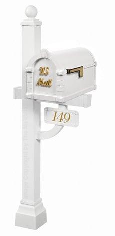 Keystone Signature Deluxe Post White Brass
