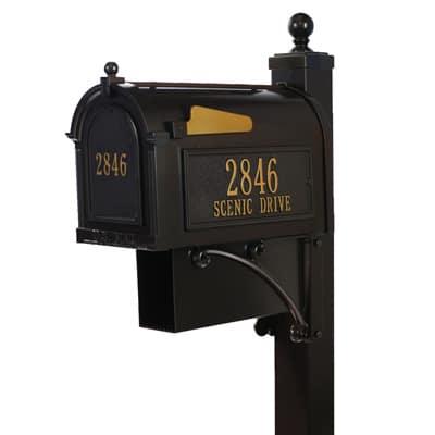 Whitehall Estate Mailbox Package Bronze Gold