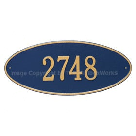 Whitehall Madison Oval Plaque Blue Gold