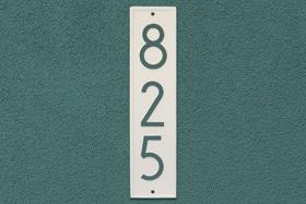 Whitehall Modern Delaware Address Plaque Installed