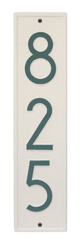 Whitehall Delaware Modern Vertical Address Plaque Product Image