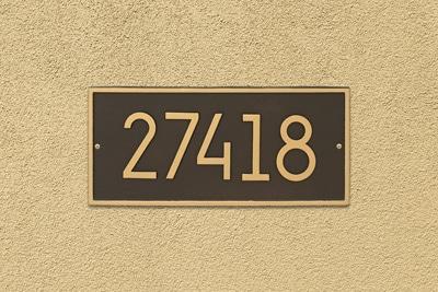 Whitehall Modern Hartford Address Plaque Installed