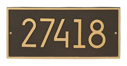 Whitehall Hartford Modern Address Plaque Product Image