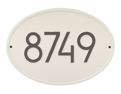 Whitehall Modern Hawthorne Oval Address Plaque