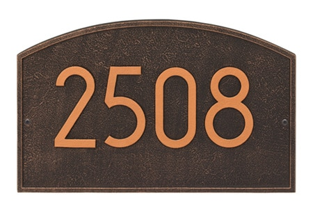 Whitehall Legacy Modern Arched Address Plaque Product Image