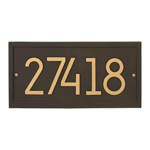 Whitehall Rectangle Modern Address Plaque Product Image