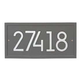 Whitehall Modern Rectangle Plaque Pewter Silver