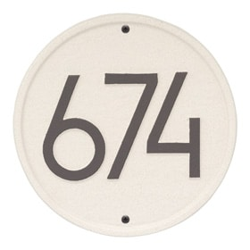 Whitehall Modern Round Plaque Coastal Clay