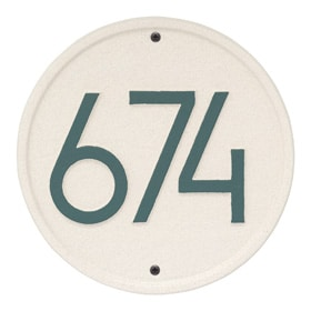 Whitehall Modern Round Plaque Coastal Green