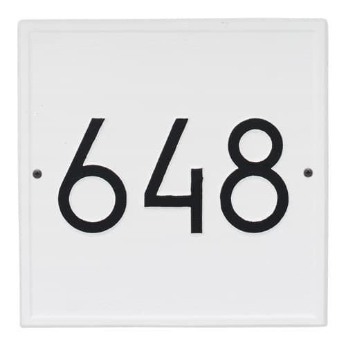 Whitehall Square Modern Address Plaque Product Image