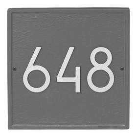 Whitehall Modern Square Plaque Pewter Silver