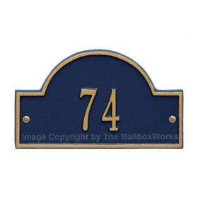 Whitehall Petite Arch Marker Blue Gold