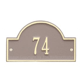 Whitehall Petite Arch Marker Taupe Ivory