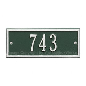 Whitehall Petite Hartford Plaque Green Silver