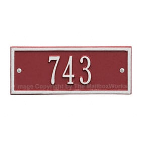Whitehall Petite Hartford Plaque Red Silver