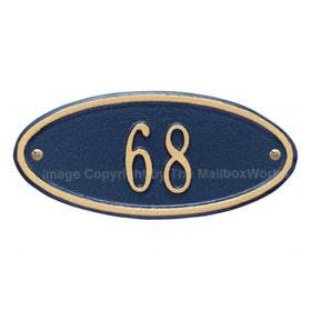 Whitehall Petite Madison Oval Blue Gold