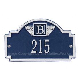 Whitehall Petite Monogram Plaque Blue Silver