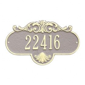 Whitehall Rochelle Address Plaque Taupe Ivory