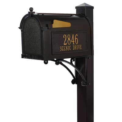 Whitehall Superior Mailbox Package Bronze Gold