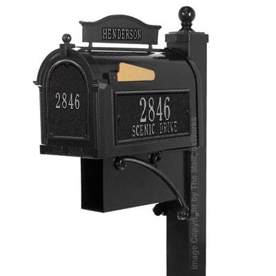 Whitehall Ultimate Mailbox Package Black Silver