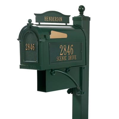 Whitehall Ultimate Mailbox Package Green Gold