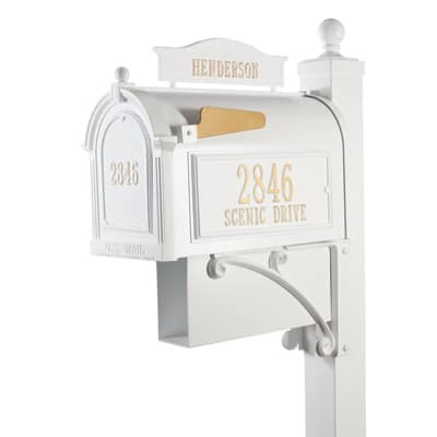 Whitehall Ultimate Mailbox Package White Gold