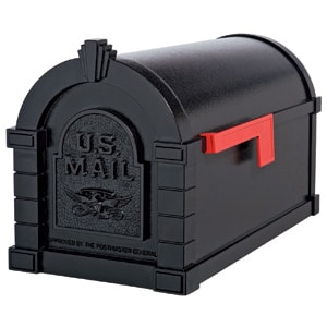 Gaines Eagle Keystone Mailbox All Black