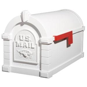 Gaines Eagle Keystone Mailbox All White