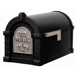 Fleur Keystone Mailbox Black Satin Nickel