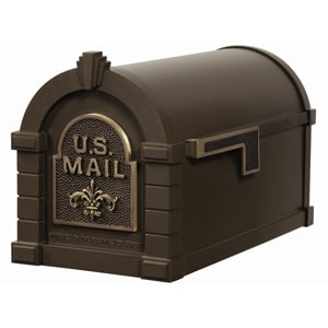 Fleur Keystone Mailbox Metallic Bronze Antique