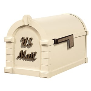 Signature Keystone Mailbox Almond Antique Bronze