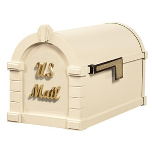 Signature Keystone Mailbox Almond Polished Brass