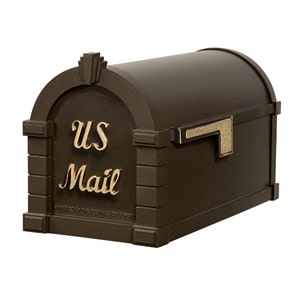 Signature Keystone Mailbox Metallic Bronze Brass