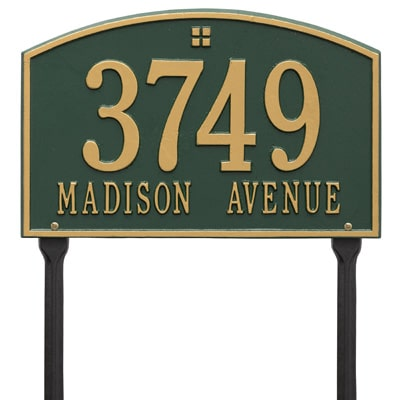 Lawn Address Markers and Plaques