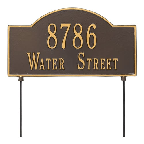 Whitehall 2 Sided Arch Marker Rectangle Lawn Address Plaque Product Image