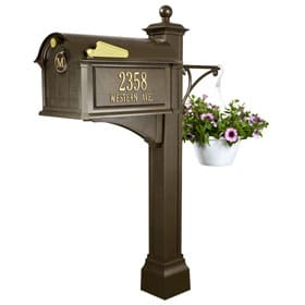 Whitehall Balmoral Deluxe Mailbox Package Bronze