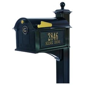 Whitehall Balmoral Streetside Mailbox Package Black