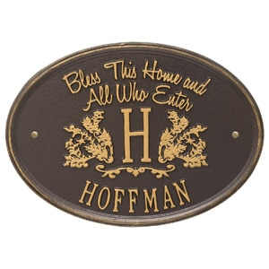 Whitehall Bless Home Monogram Bronze Gold