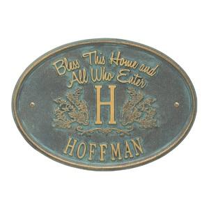 Whitehall Bless Home Monogram Bronze Verdigris