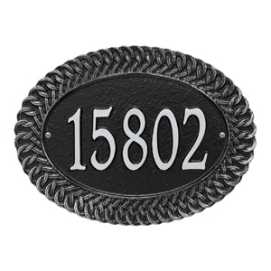 Whitehall Chartwell Address Plaque Black Silver