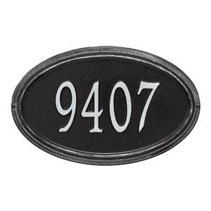 Whitehall Concord Oval Plaque Black Silver