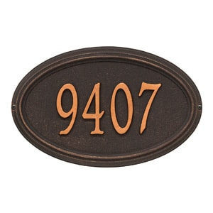 Whitehall Concord Oval Oil Rubbed Bronze