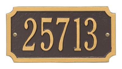 Whitehall Cut Corner Rectangle Address Plaque Product Image