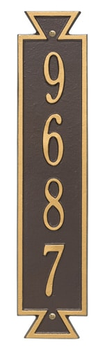 Whitehall Exeter Vertical Address Plaque Product Image