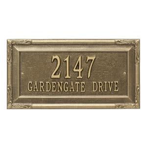 Whitehall Gardengate Address Plaque Antique Bronze