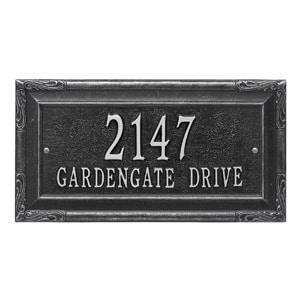 Whitehall Gardengate Address Plaque Black Silver