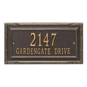 Whitehall Gardengate Address Plaque Bronze Gold