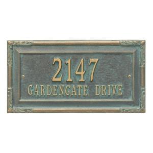 Whitehall Gardengate Address Plaque Bronze Verdigris
