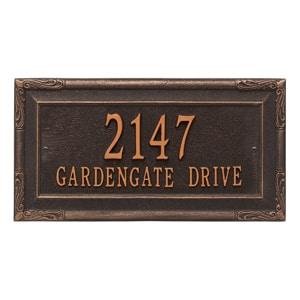 Whitehall Gardengate Plaque Oil Rubbed Bronze
