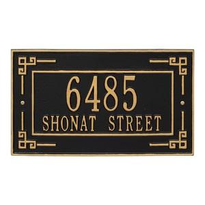 Whitehall Key Corner Plaque Black Gold